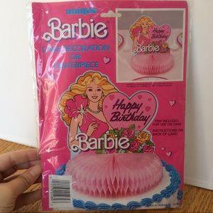 VINTAGE 80'S MATTEL BARBIE CENTERPIECE CAKE TOPPER